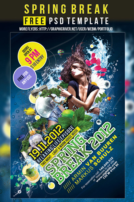 Free-flyer-PSD-template-Spring-Break