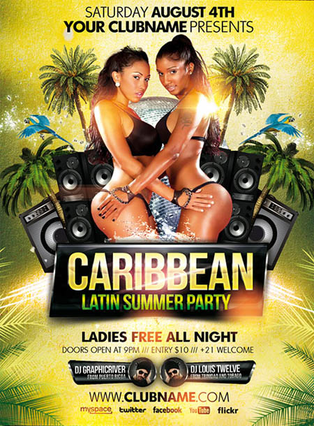 caribbean-party-flyer-template
