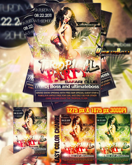 tropical_party_flyer
